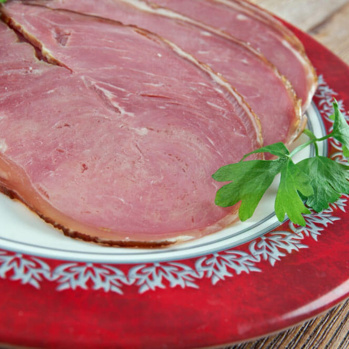 Hangikjot - hung meat. traditional festive food in Iceland, served at Christmas