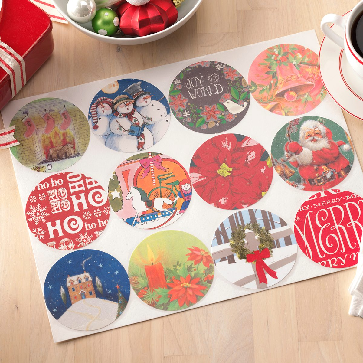 placemats from repurposed Christmas cards
