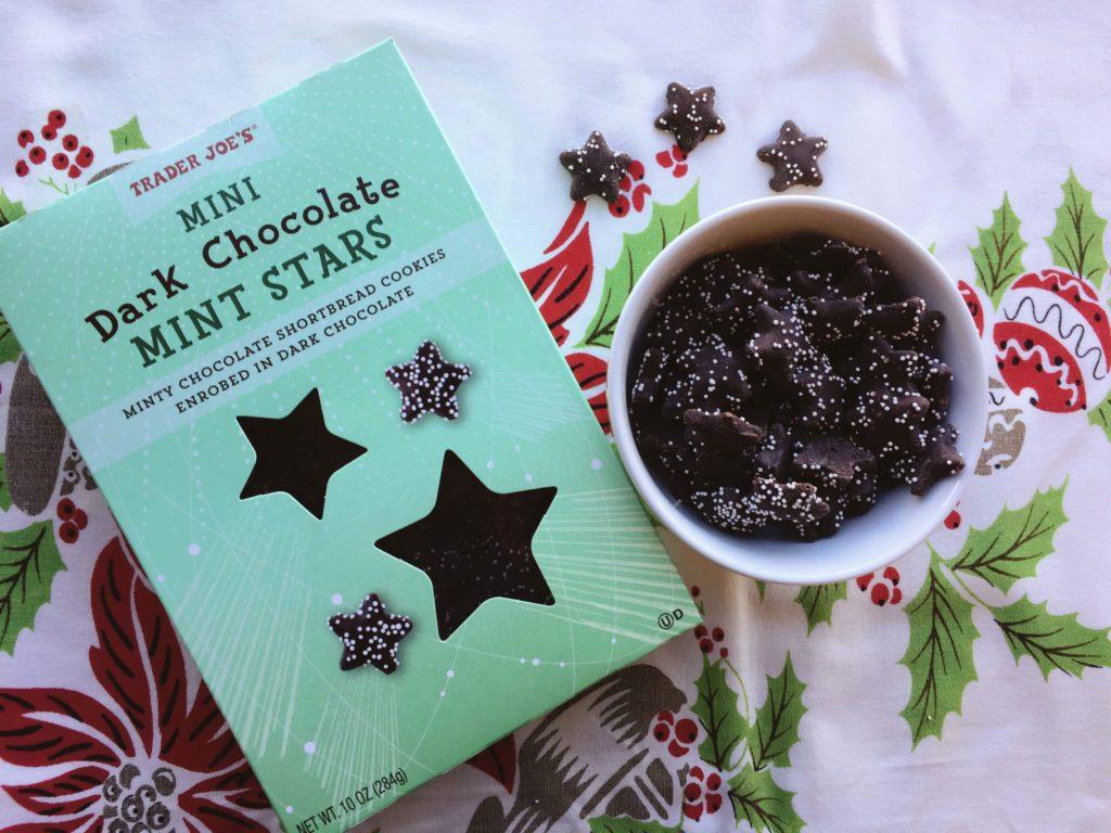 Dark chocolate mint stars