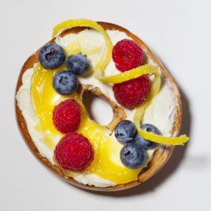 lemon; berry; bagel