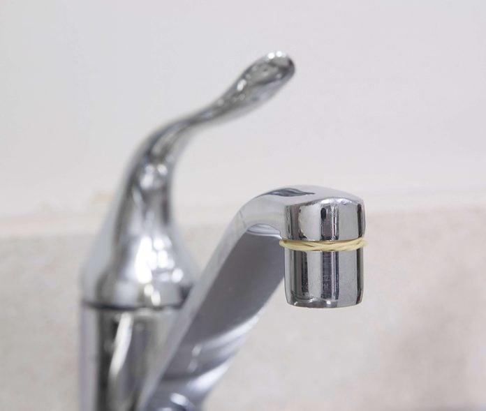 rubberbands, kitchen, sink, faucet