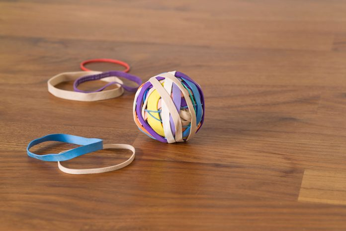 rubberband, ball, kitchen