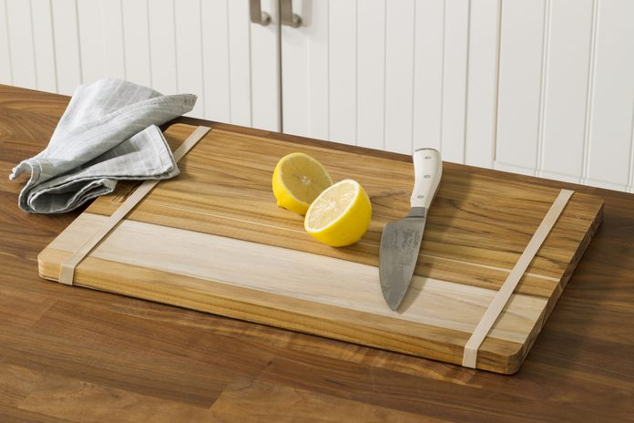 rubberband, cutting board, kitchen