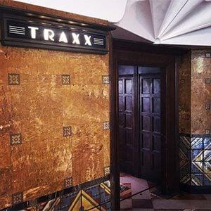 Inside of Traxx Restaurant