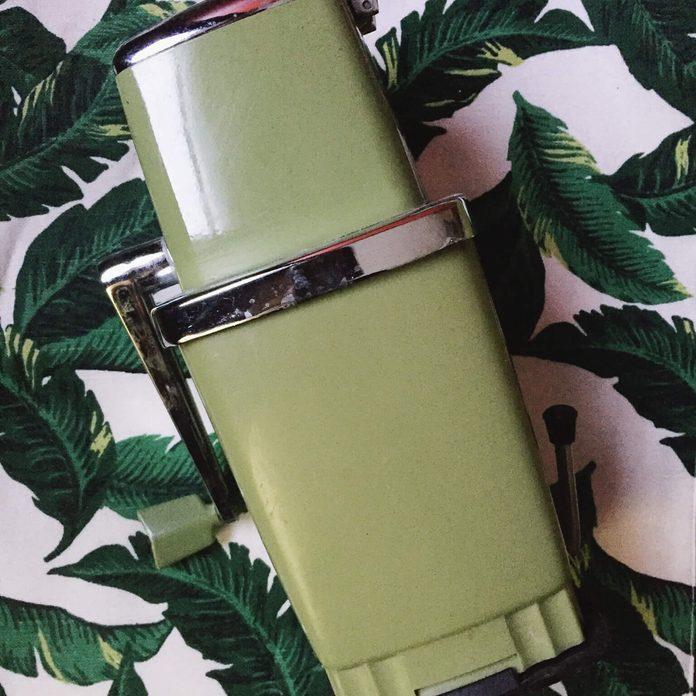 olive green vintage ice crusher