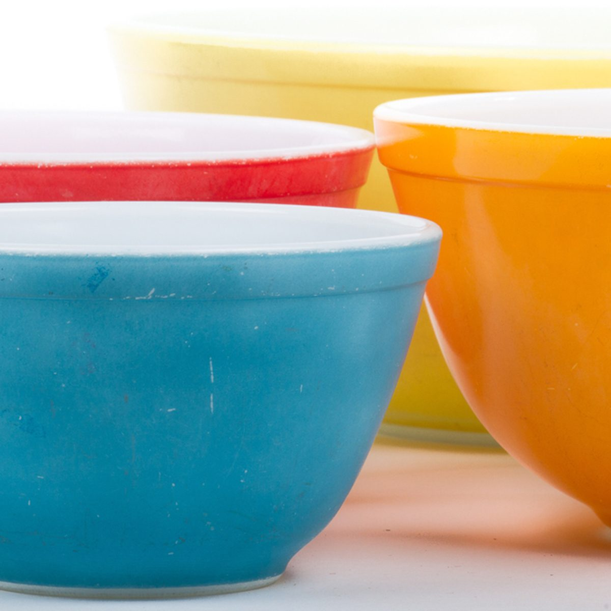 Vintage Colored Bowls; Shutterstock ID 134878409