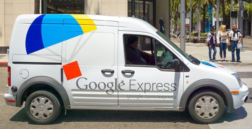 Google Express delivery van.