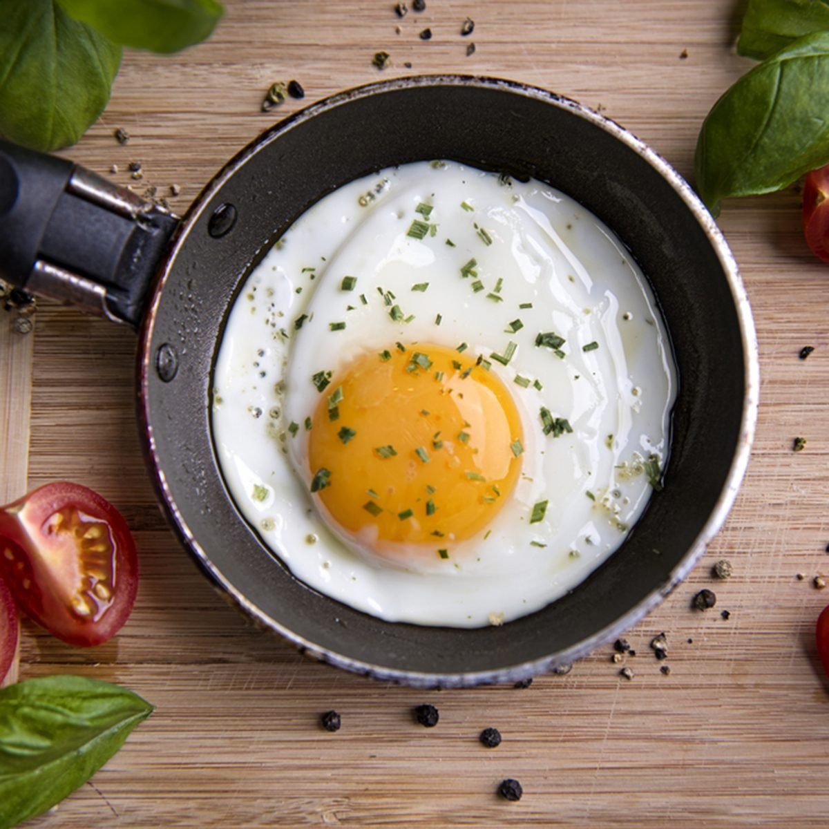 freshly made, delicious meal of eggs and vegetables; Shutterstock ID 344915381; Job (TFH, TOH, RD, BNB, CWM, CM): TOH