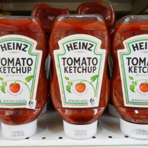 Heinz tomato ketchup at the market