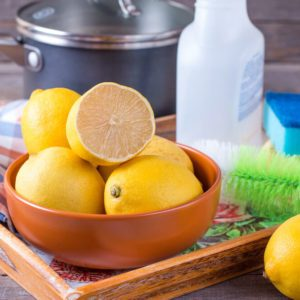 Eco-friendly natural cleaners; lemon