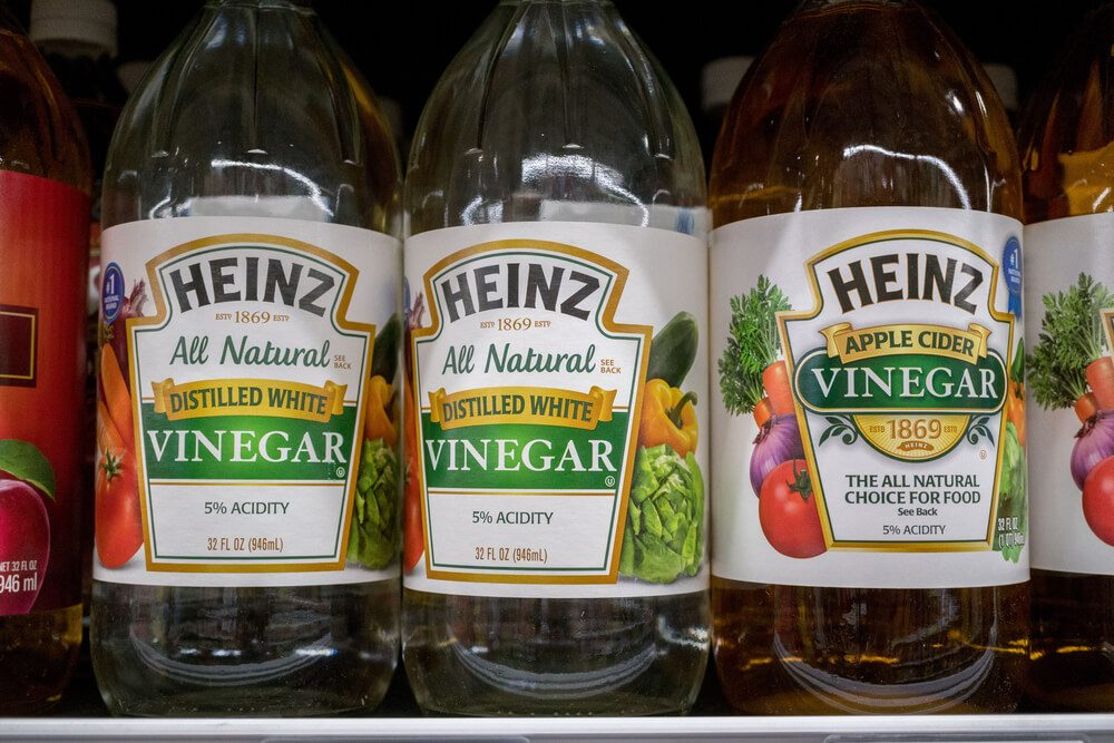 Heinz vinegar at the market