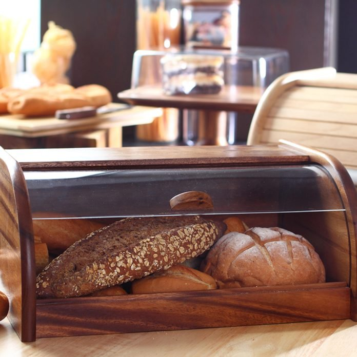 Wood bread Box; Shutterstock ID 666739498