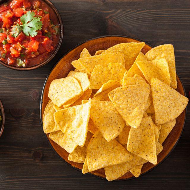 mexican nachos tortilla chips with guacamole, salsa and cheese dip; Shutterstock ID 756416779; Job (TFH, TOH, RD, BNB, CWM, CM): Taste of Home