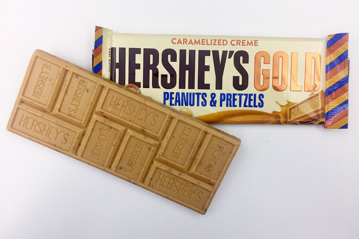 We Tried The New Hersheys Gold Candy Bar Taste Of Home