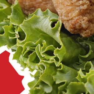 Salad with crispy chicken
