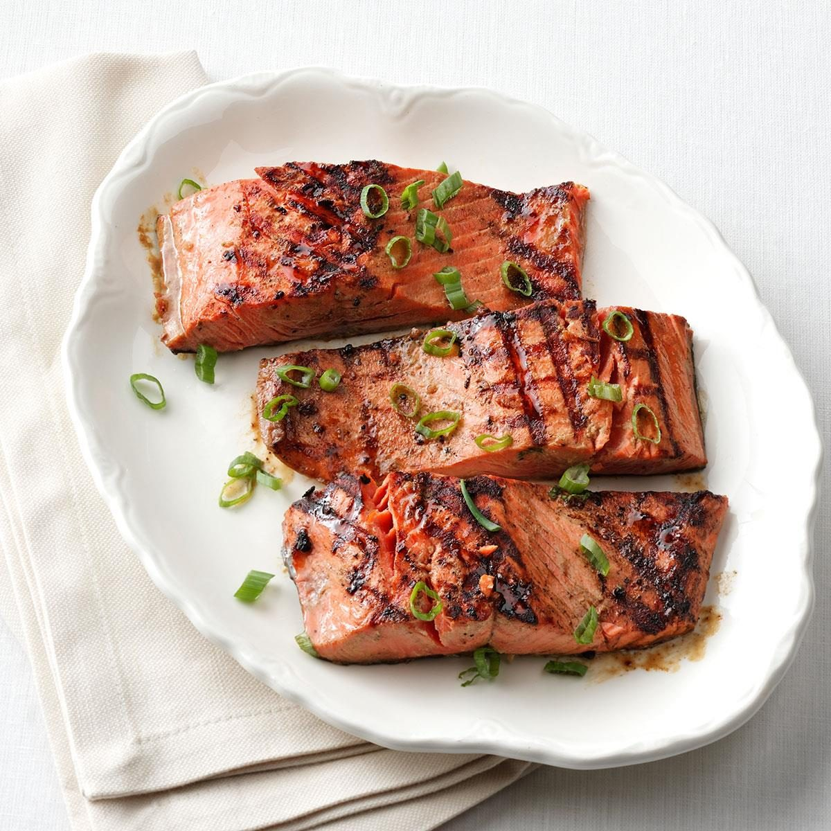 1-2-3 Grilled Salmon for Two