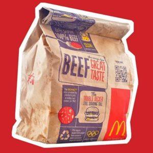 Mc Donald's take-out bag