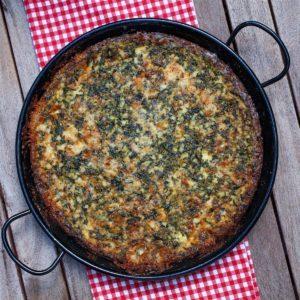 Spinach Gorgonzola Souffle
