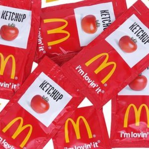 Mc Donald's ketchup packets