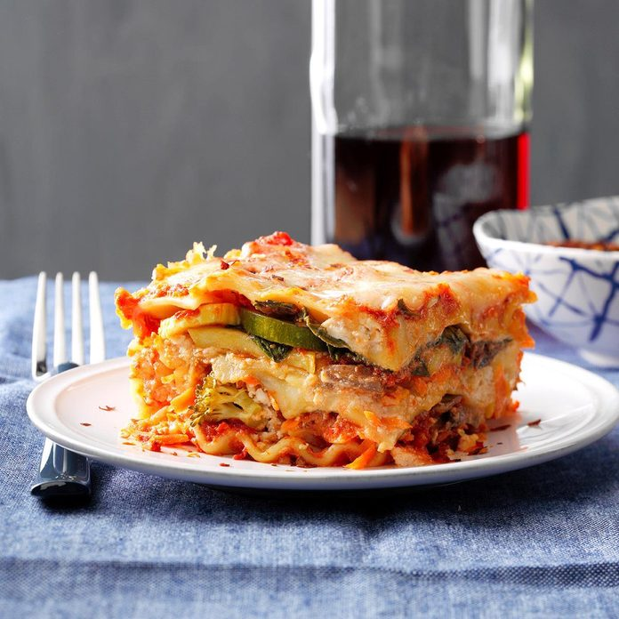 All Veggie Lasagna Recipe How To Make It Taste Of Home