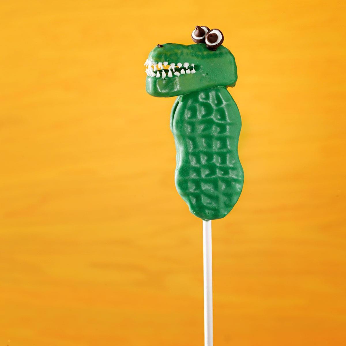 Alligator Cookie Pops