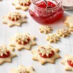 Almond Raspberry Stars