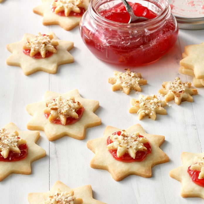 A: Almond Raspberry Stars