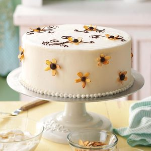 Amaretto Cake with Buttercream Frosting