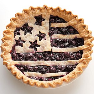 American Flag Berry Pie