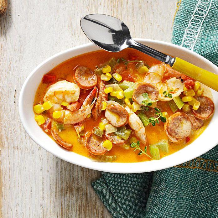 Andouille-Shrimp Cream Soup
