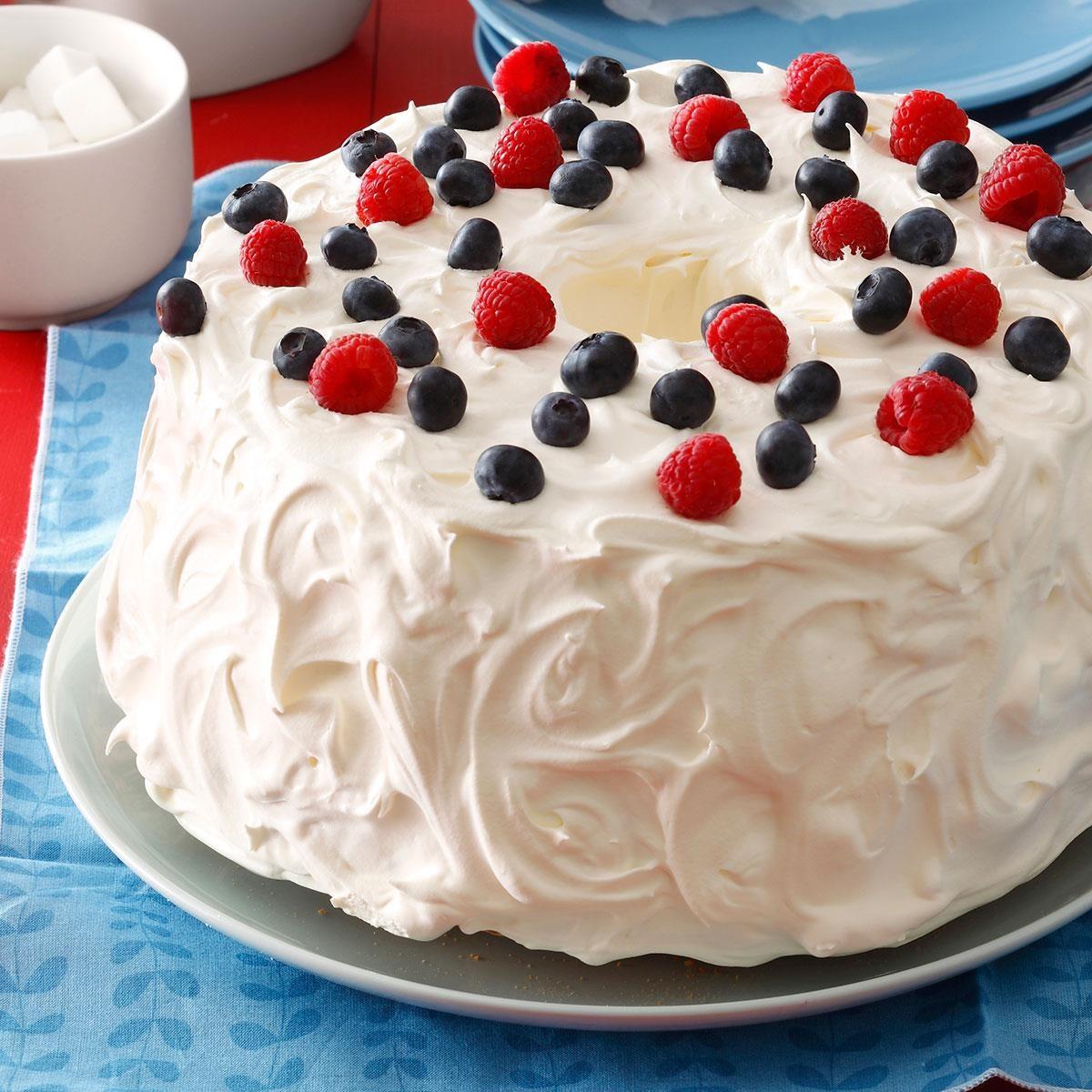 Angel Berry Tunnel Cake