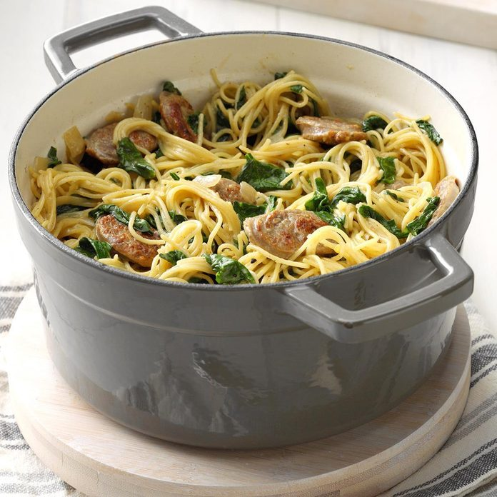 Angel Hair Pasta With Sausage Spinach Exps Cimz19 50260 B01 09 7b 2 42