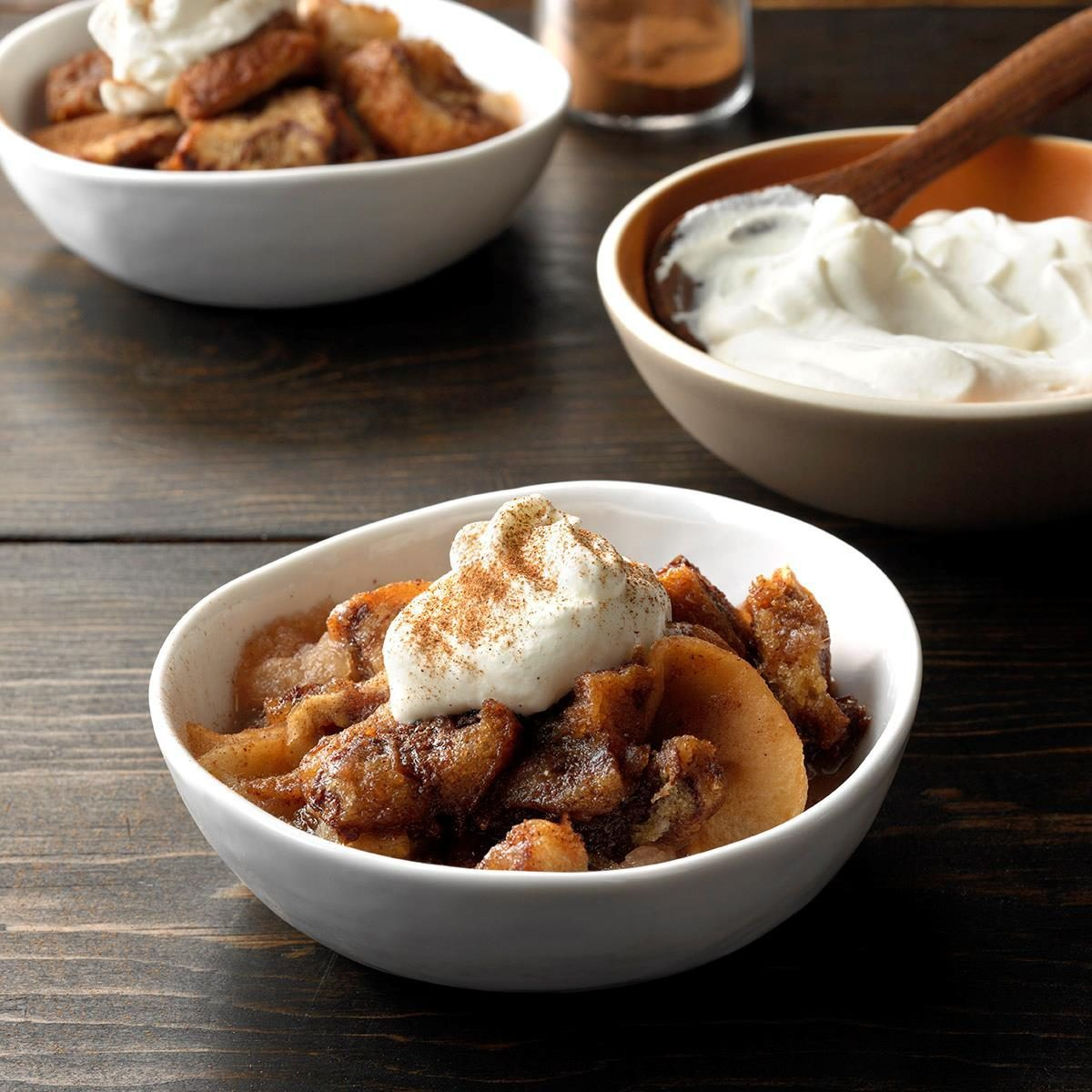 Day 5: Apple Betty with Almond Cream