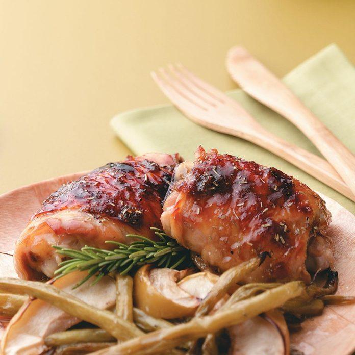 Apple-Brined Chicken Thighs
