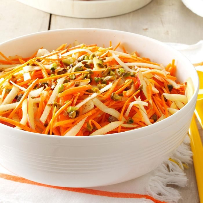 Apple-Carrot Slaw with Pistachios