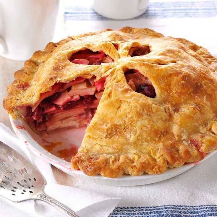 Apple-Cherry Cream Cheese Pie