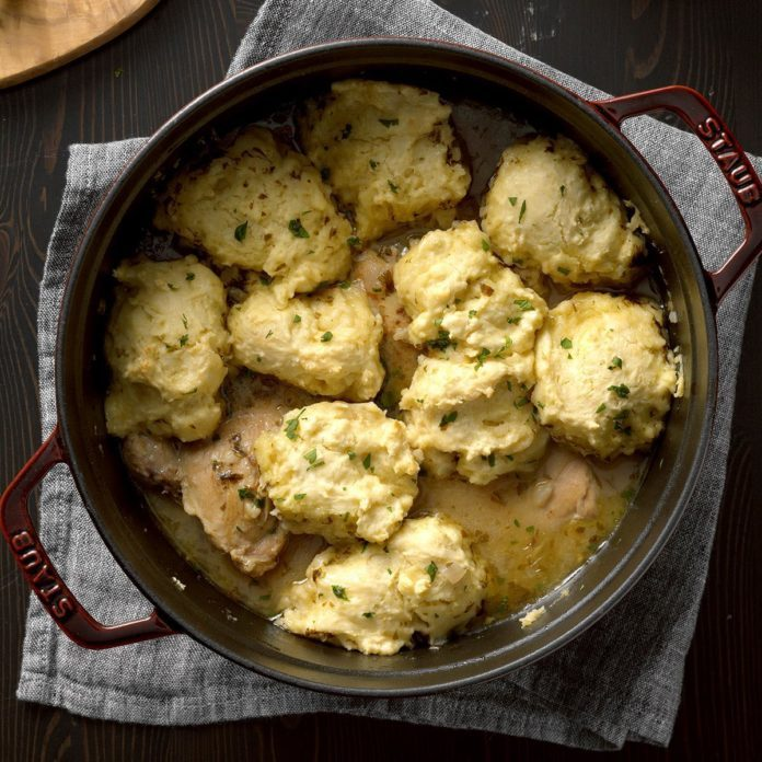 New Mexico: Apple Cider Chicken 'n' Dumplings