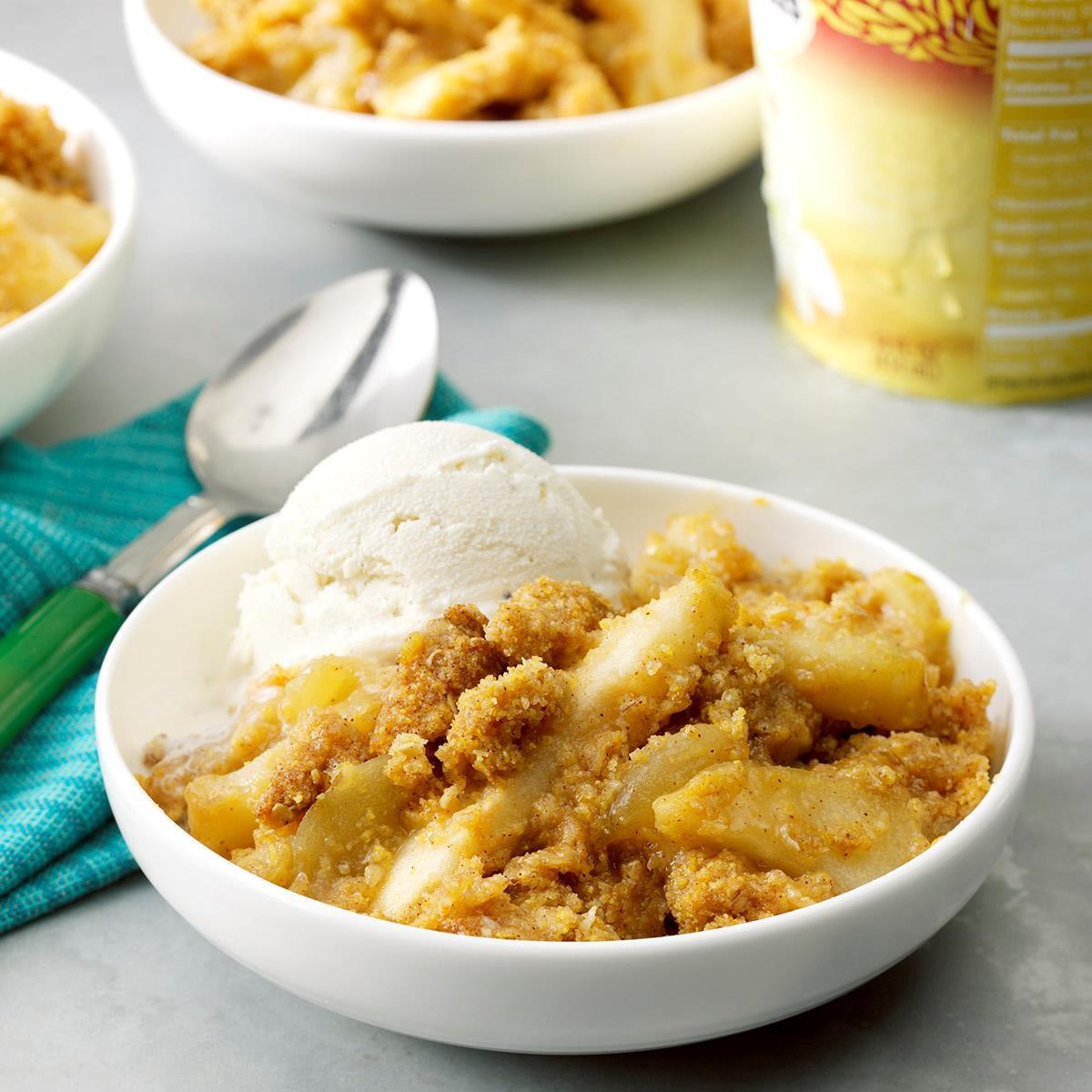 Apple Cornbread Crisp