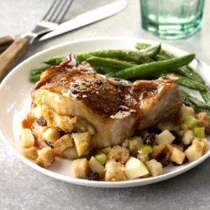 Apple-Glazed Stuffed Pork Chops