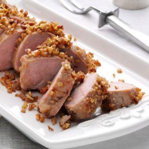 Apple-Pecan Pork Tenderloin