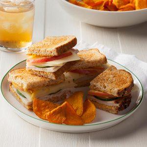 Apple-Swiss Turkey Sandwiches