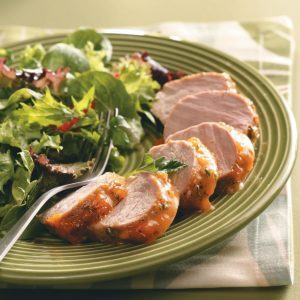 Apricot-Glazed Pork Tenderloin for Two
