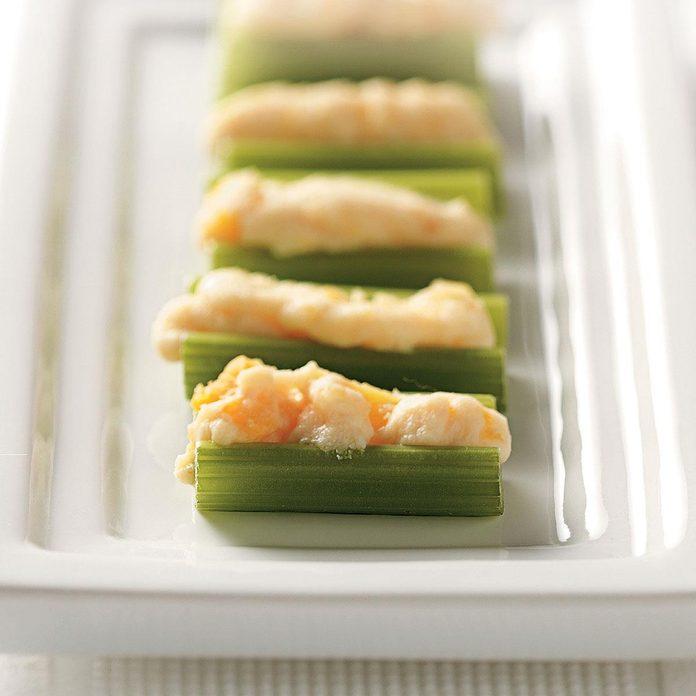 Apricot-Ricotta Stuffed Celery