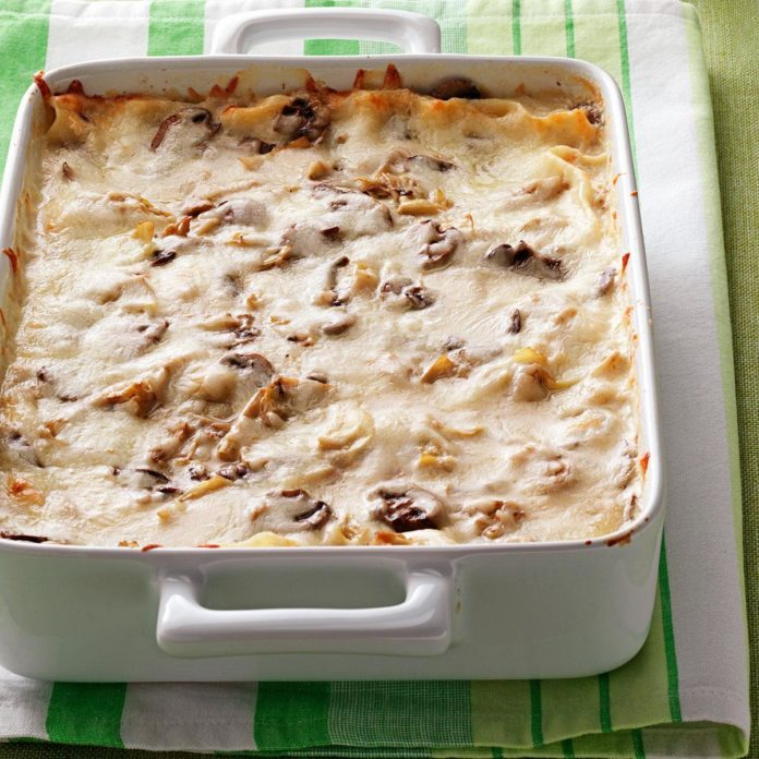 Spring: Artichoke Mushroom Lasagna