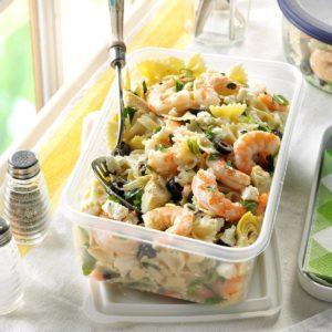 Artichoke Shrimp Pasta Salad
