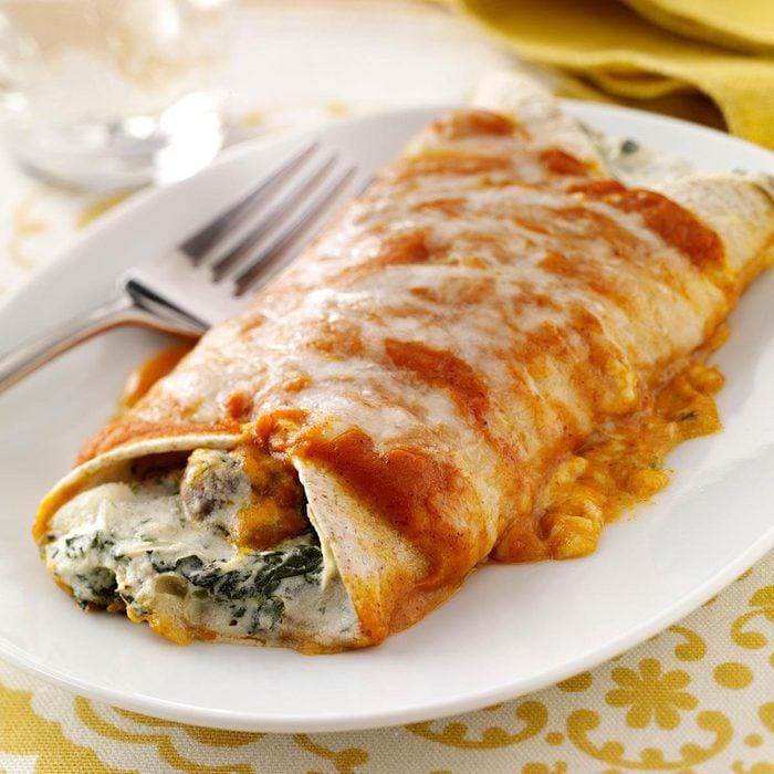 Artichoke & Spinach Enchiladas