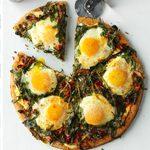 Arugula & Mushroom Breakfast Pizza
