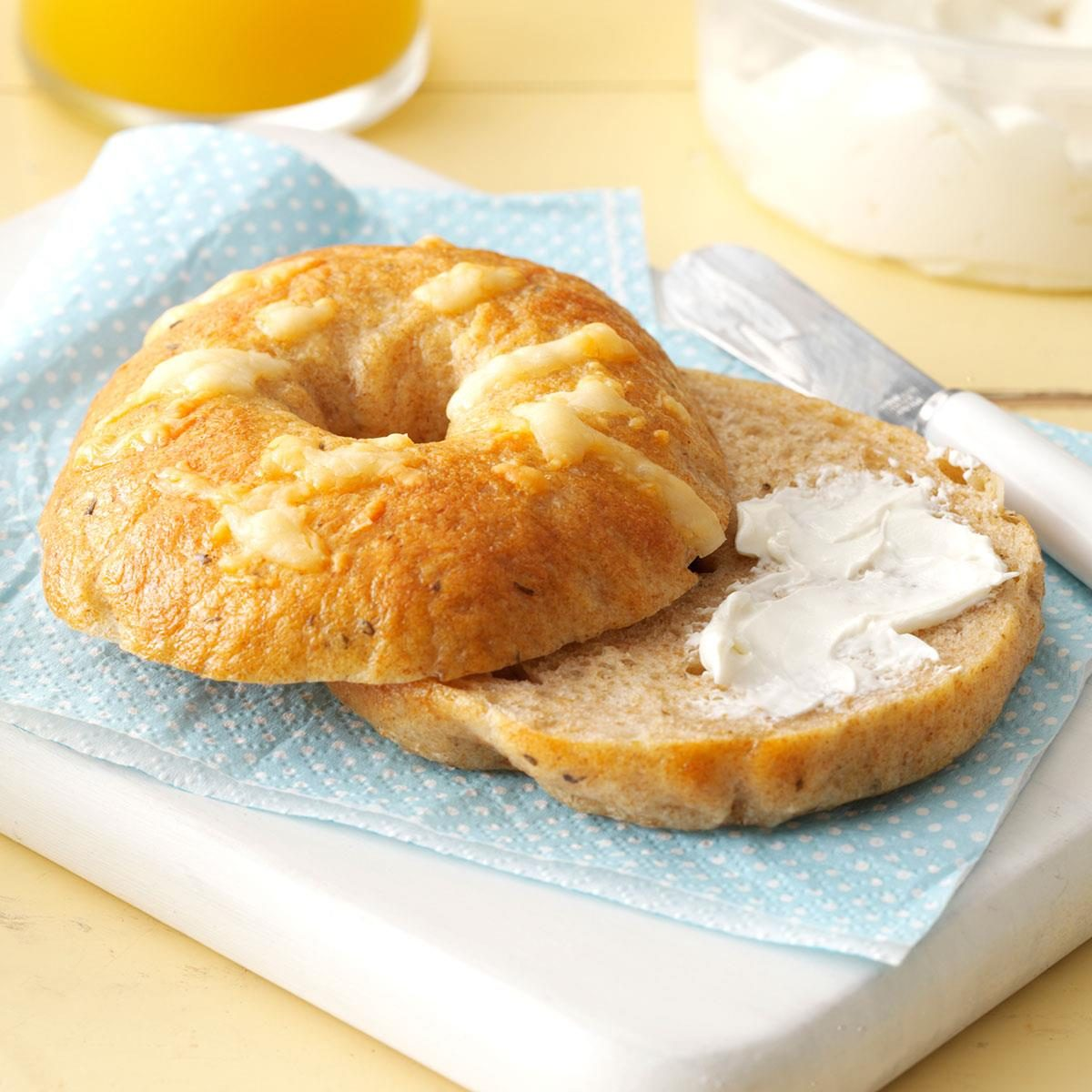 Inspired by: Einstein Bros. Bagels Asiago Bagel