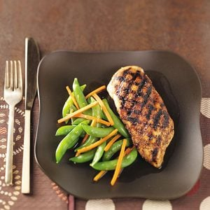 Asian Chicken with Gingered Vegetables