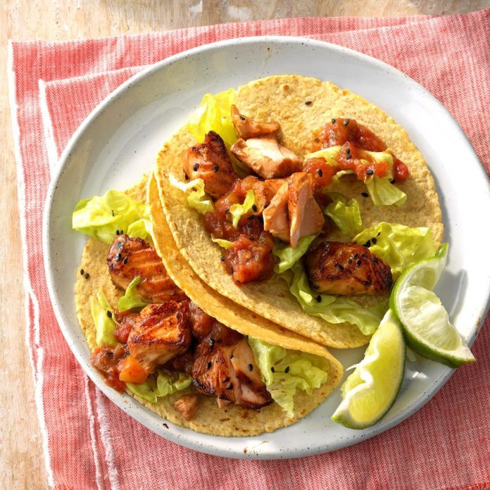 Pisces: Asian Salmon Tacos